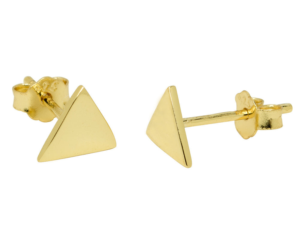 Tiny Gold Triangle Stud Earrings