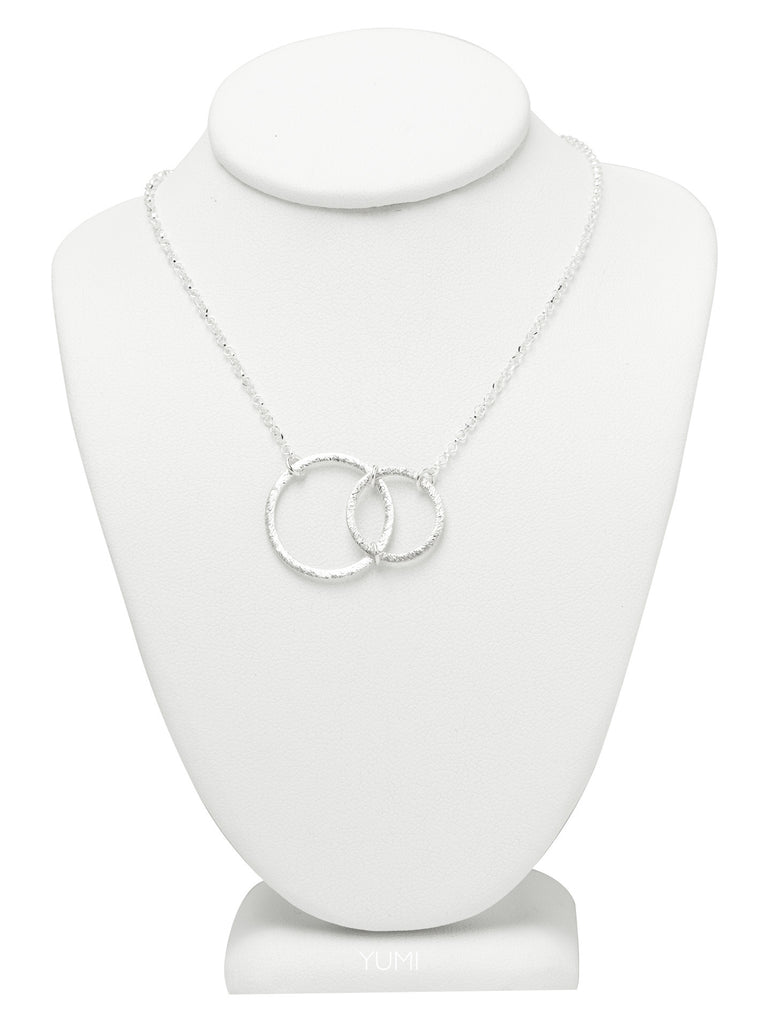 Silver Abstract Circle Necklace