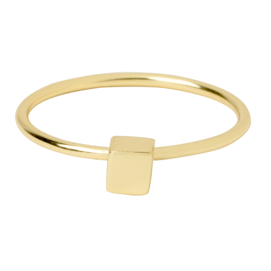 Gold Cube Ring