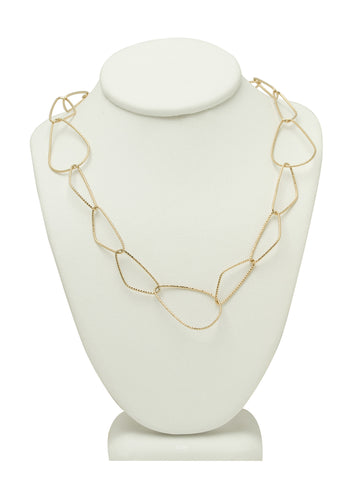 Abstract Gold Shapes Chain Necklace