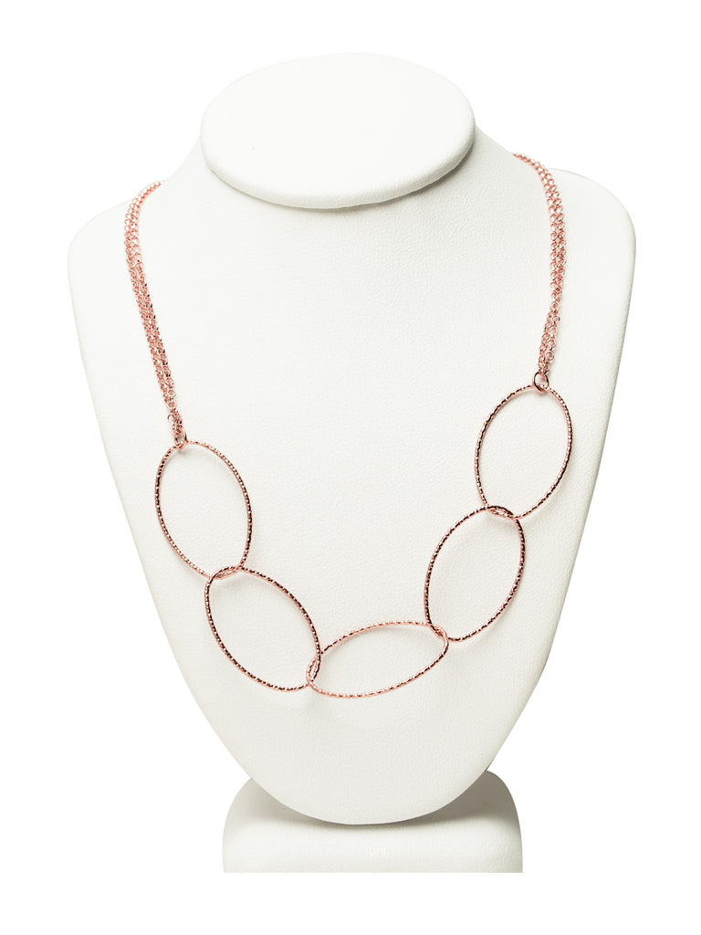 Cascading Rose Gold Chain Necklace