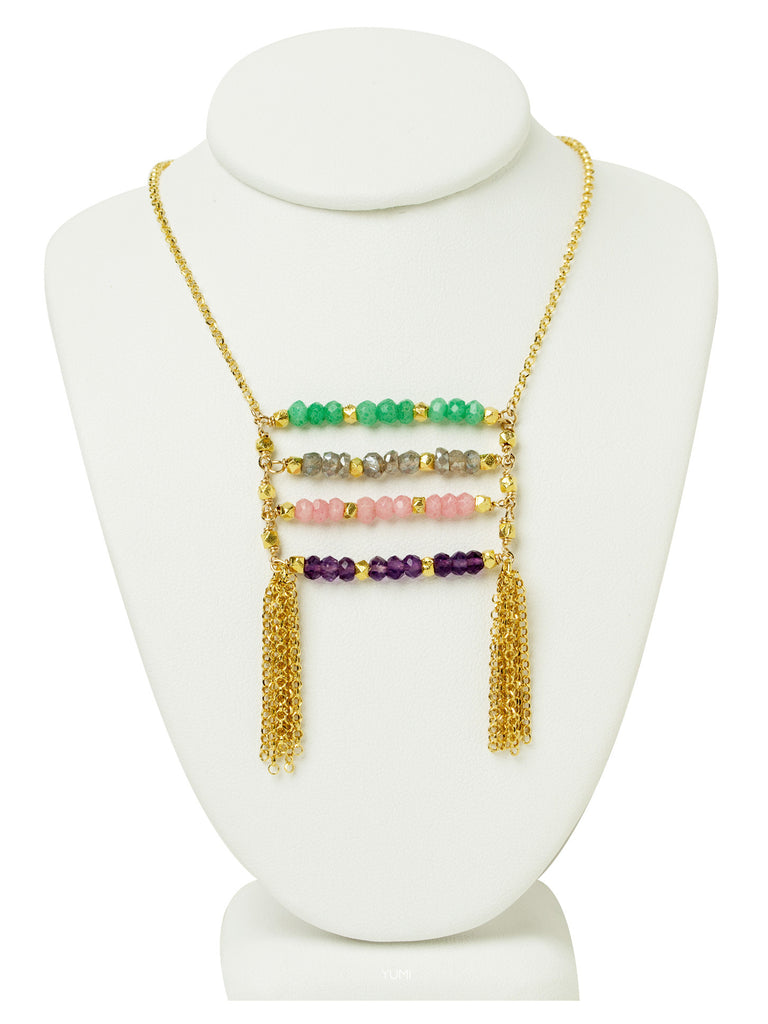 Gemstone Ladder Necklace