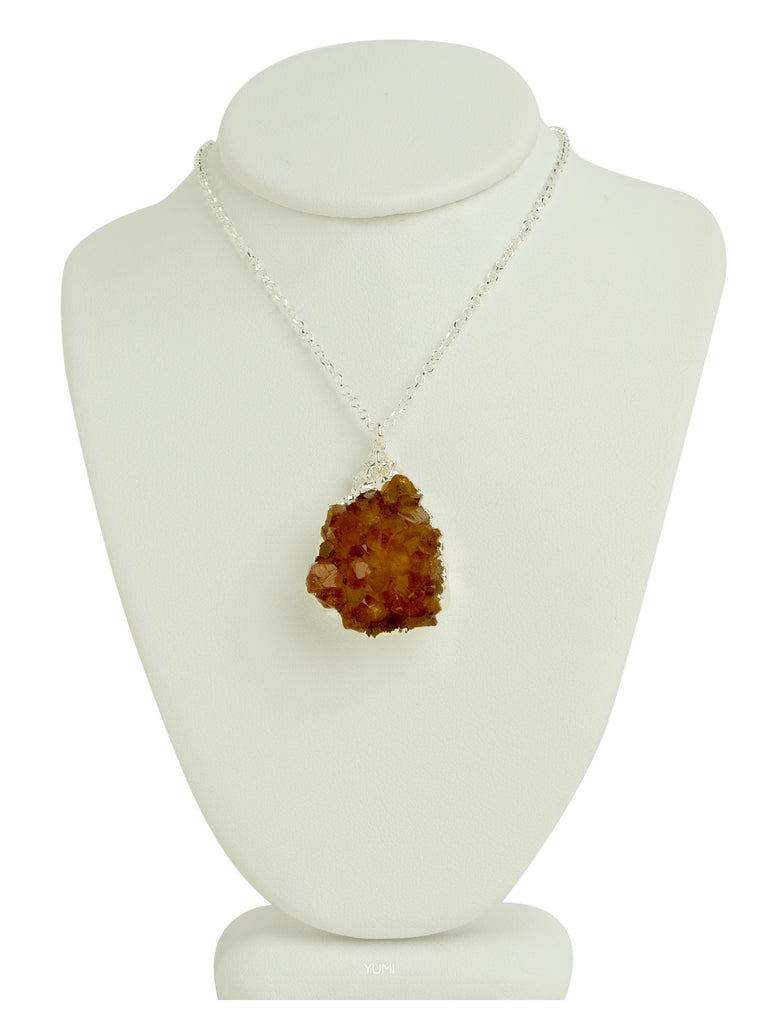 Natural Citrine Stone Necklace