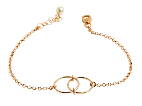 Infinity Rose Gold-Filled Chain Bracelet