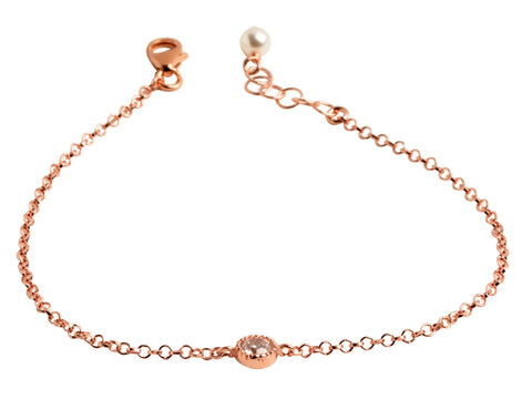 Rose Gold-Filled Dot CZ Bracelet