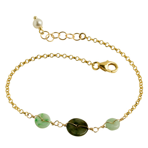 Good Fortune Jade Coin Bracelet