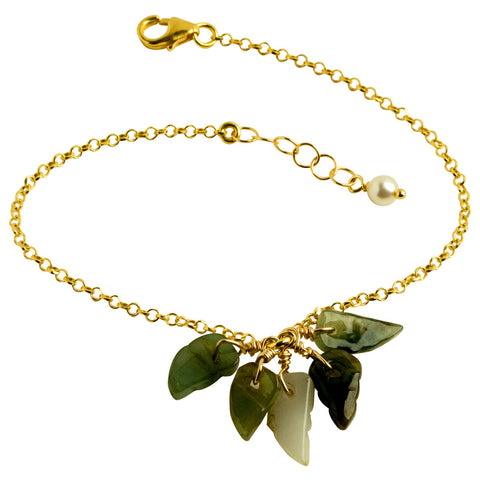 Jade Leaves Bracelet