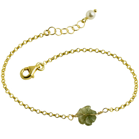 Jade Tiny Flower Bracelet