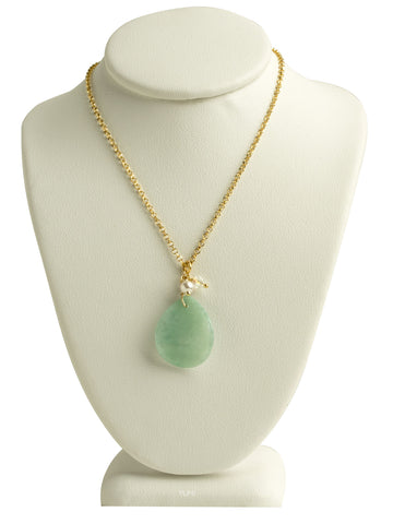 Jade Petal Necklace