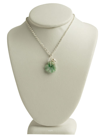 Jade Green Flower Necklace
