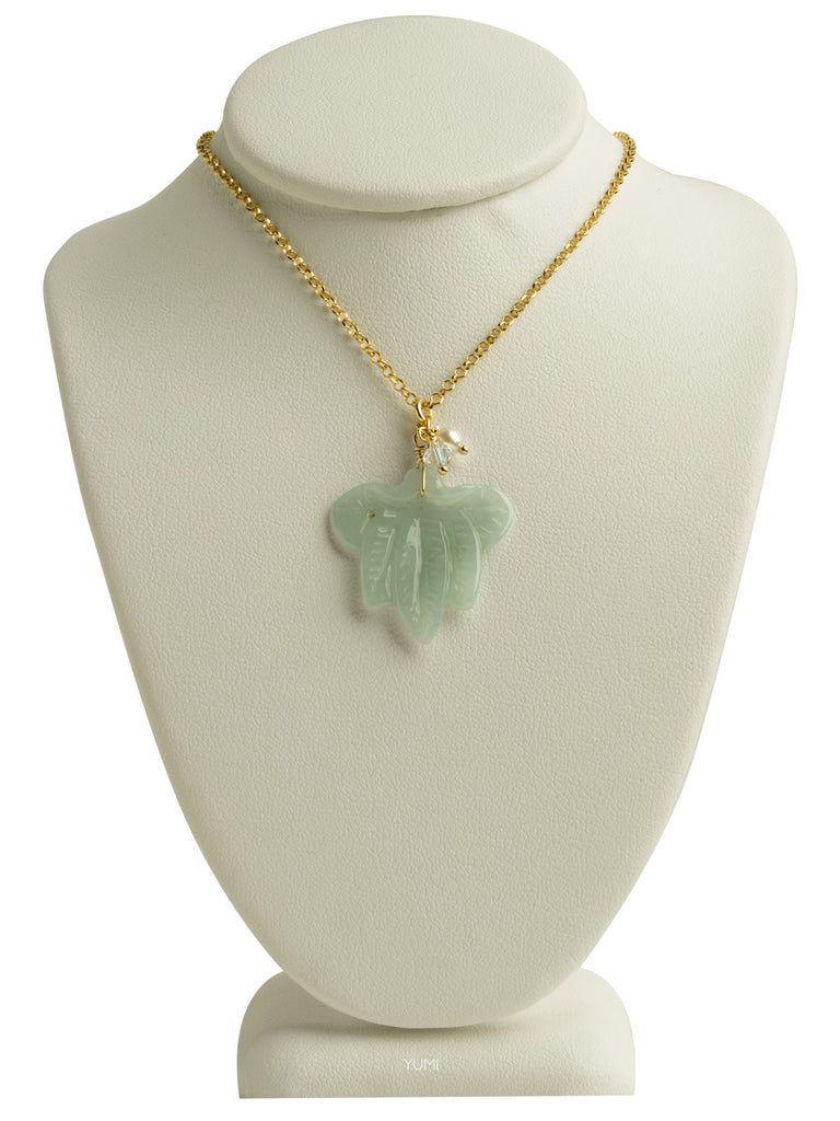 Jade Lotus Flower Necklace