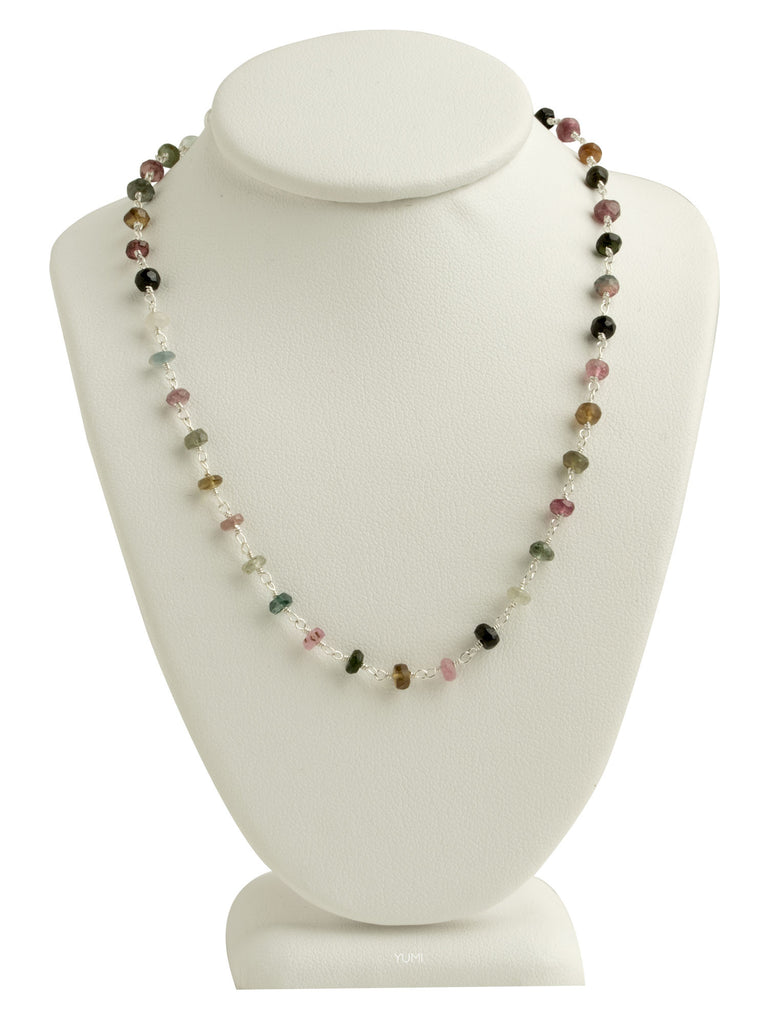 Watermelon Tourmaline Gemstone Necklace