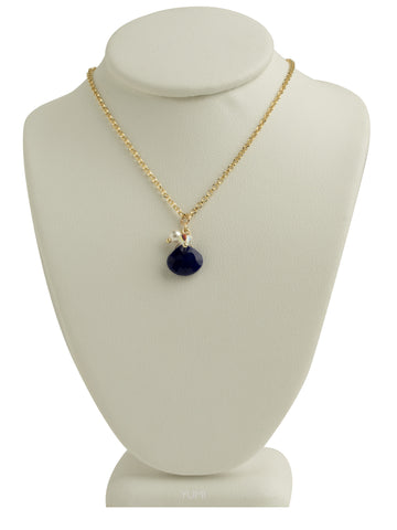 Blue Lapis Teardrop Pendant Necklace
