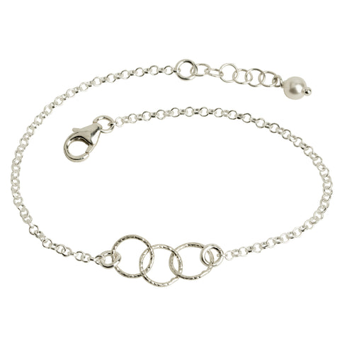 Three Interlocking Circle Bracelet