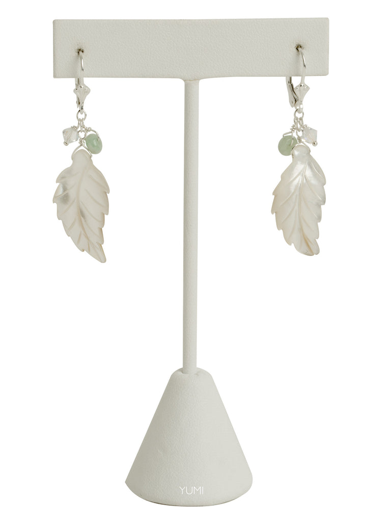 Magnolia Pearl Leaf Earrings