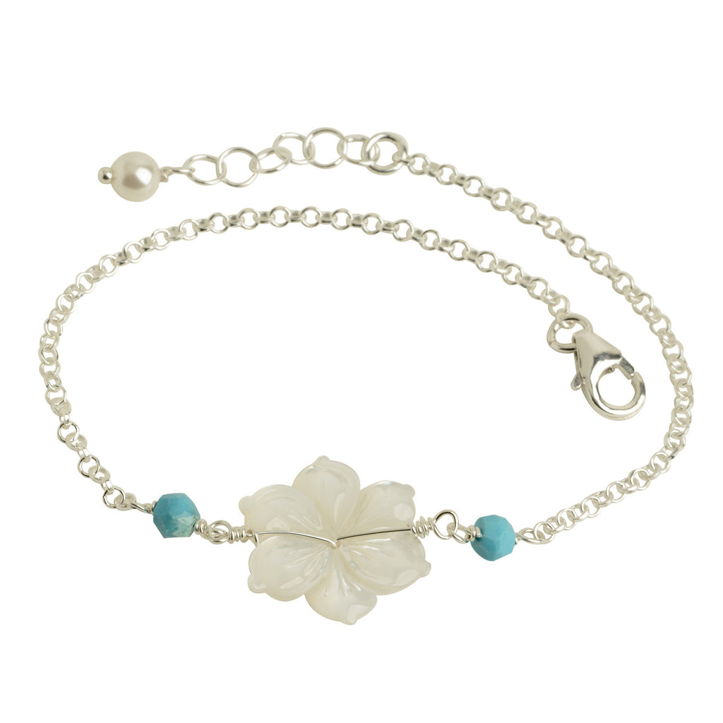 Mother of Pearl Flower Bracelet