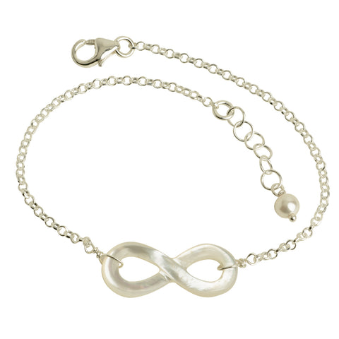 Mother of Pearl Infinity Bracelet