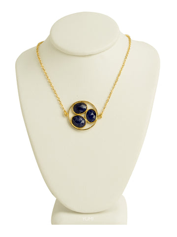 Blue Lapis Cluster Necklace