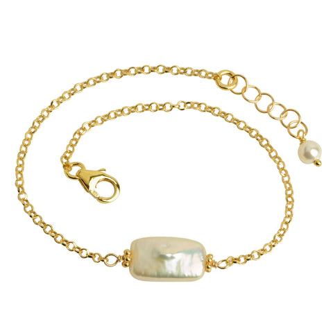 Rectangle Pearl Bracelet