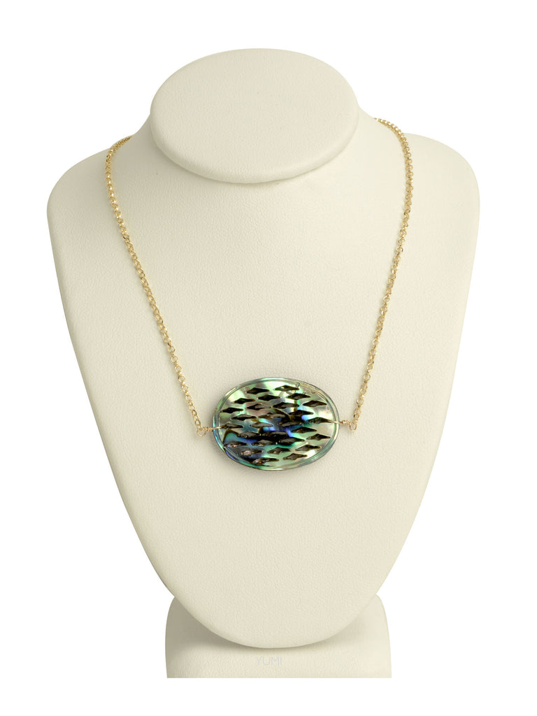 Abalone Filigree Pendant Necklace