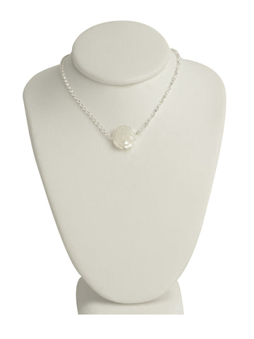 Mother of Pearl Rose Necklace
