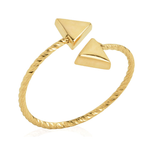 Triangle Wire Twist Ring