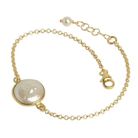 Mother of Pearl Bezel Bracelet