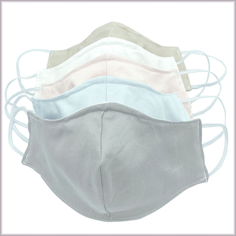 5 PACK - Cotton Face Masks With Filter and Nose Wire