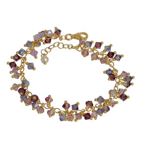 Purple Passion Crystal Charm Bracelet