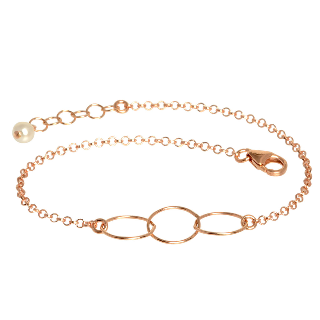 Rose Gold Triple Loop Bracelet