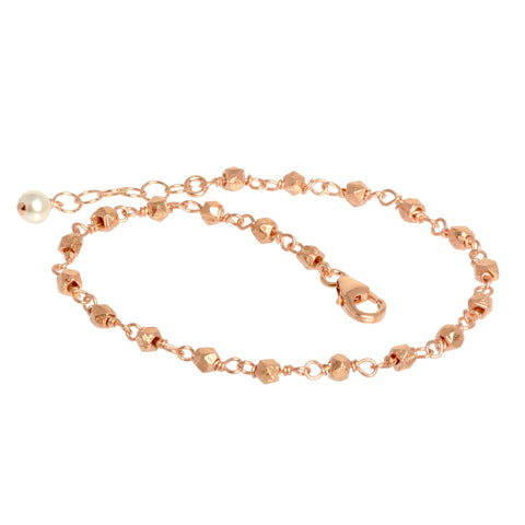 Rose Gold Nugget Bracelet