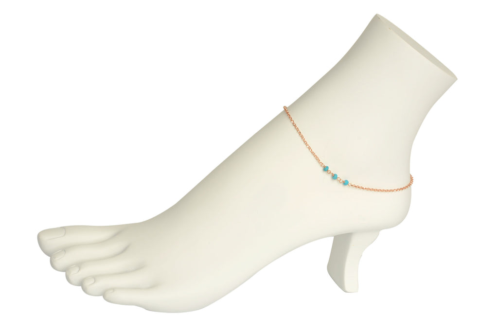 Dreamy Turquoise Nugget Anklet