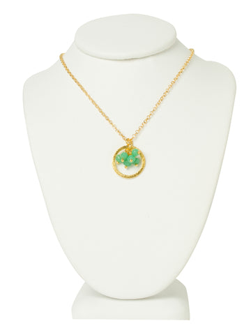 Chalcedony Gemstone Eternity Necklace