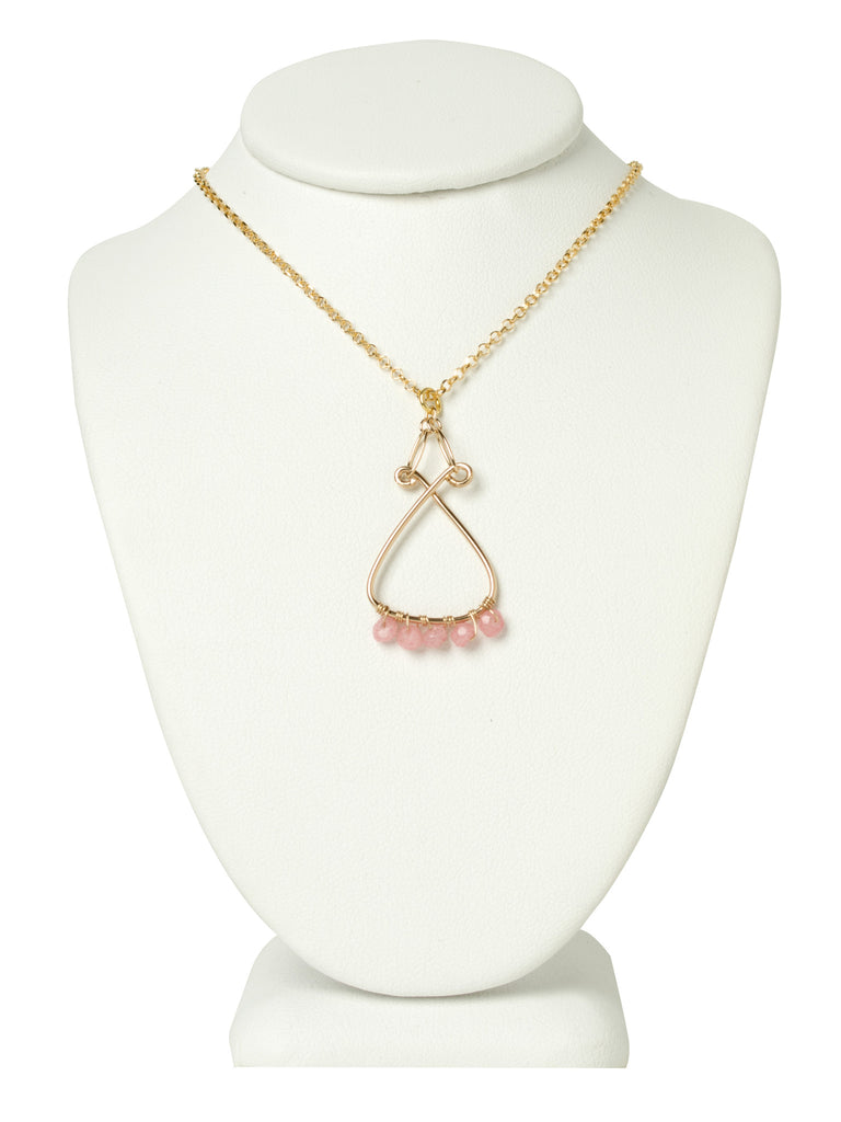 Rose Quartz Filigree Necklace