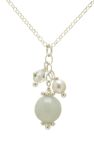 Tiny Jade Ball Necklace