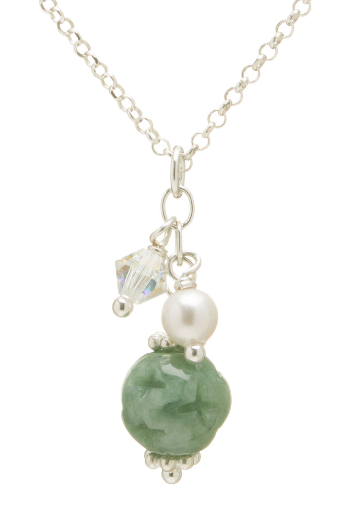 Filigree Jade Ball Necklace