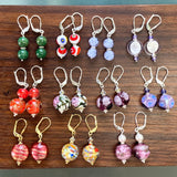 Venetian Glass Earrings Collection