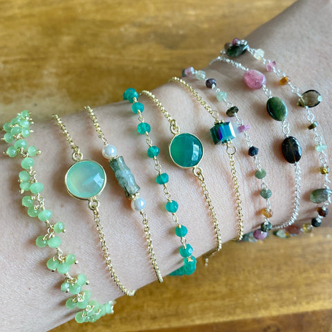 Shades of Green Bracelet Collection