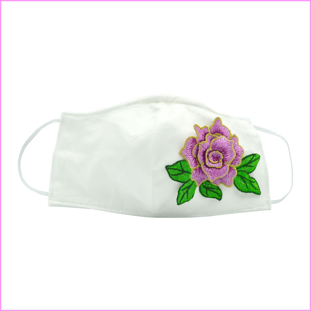 Lilac Flower Face Mask With Filter and Nose Wire