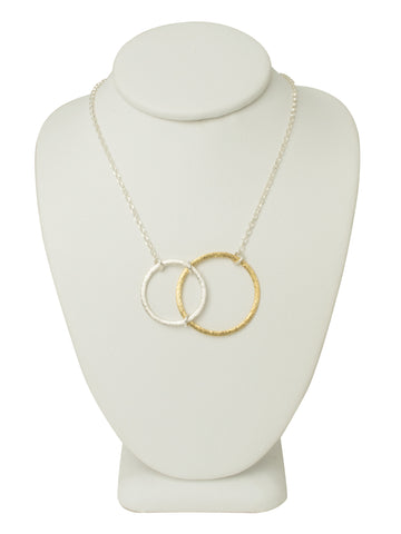 Abstract Circle Necklace