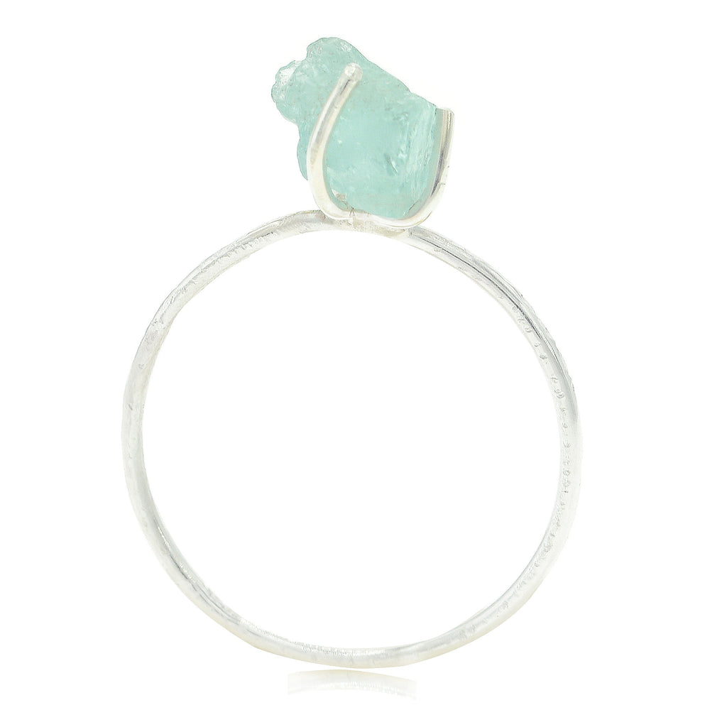 Raw Aquamarine Gemstone Ring