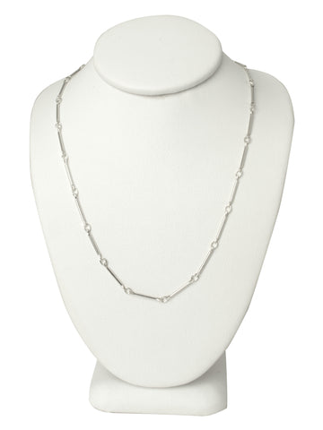 Silver Line Chain Necklace