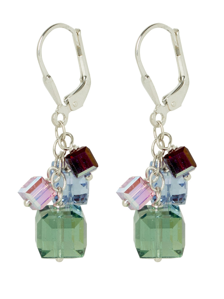 Burano Swarovski Crystal Cube Earrings