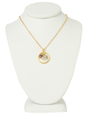 Bursting Color Gemstones Eternity Necklace