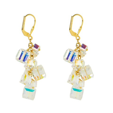 Abstract Cubes Charm Earrings
