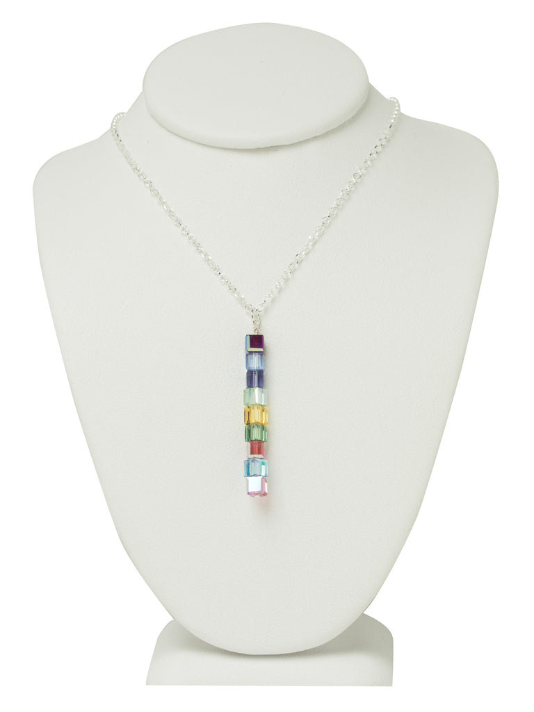 Crystal Logo Line Necklace