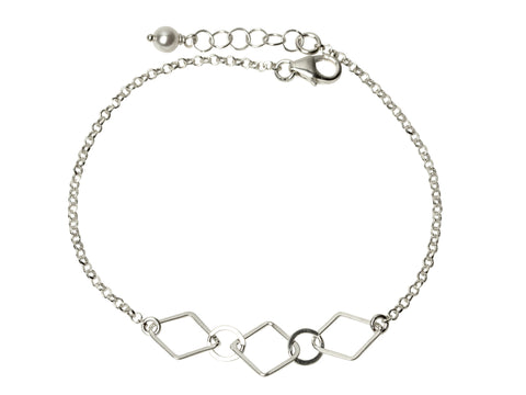 Silver Diamond Chain Bracelet
