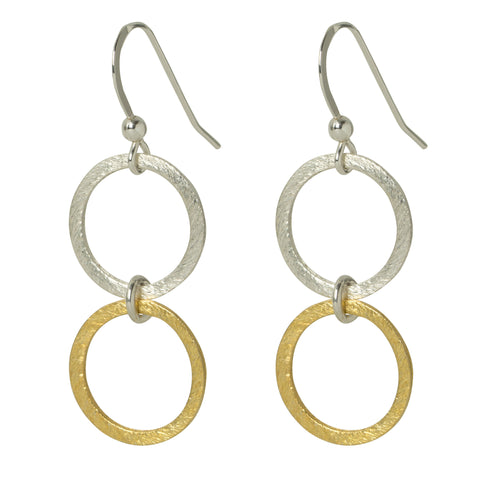 Duo Eternity Circle Earrings