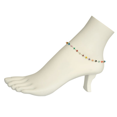 Multi-Gemstone Anklet