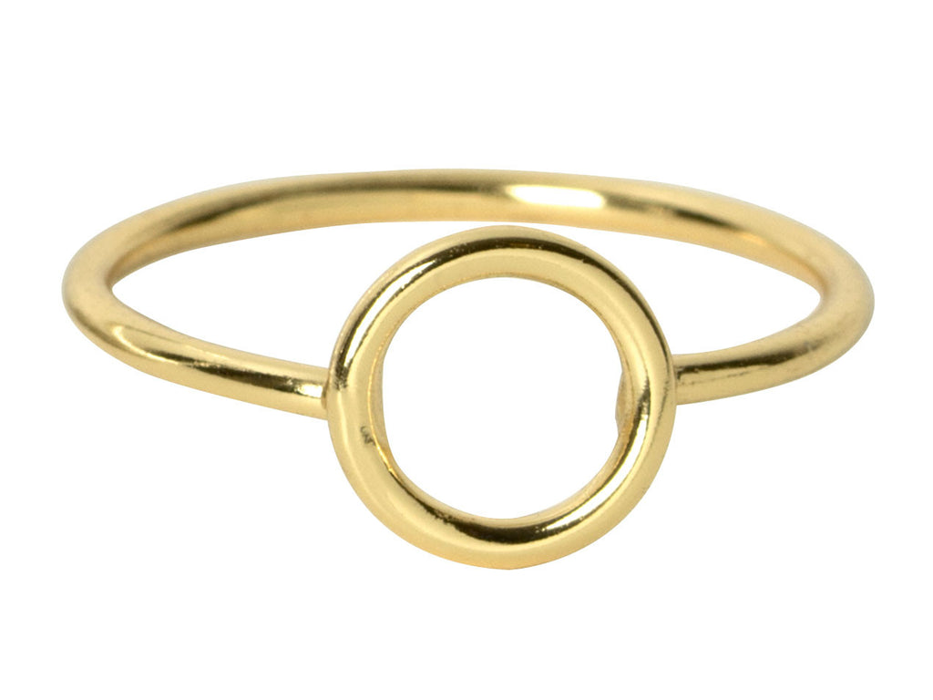 Gold Eternity Circle Ring